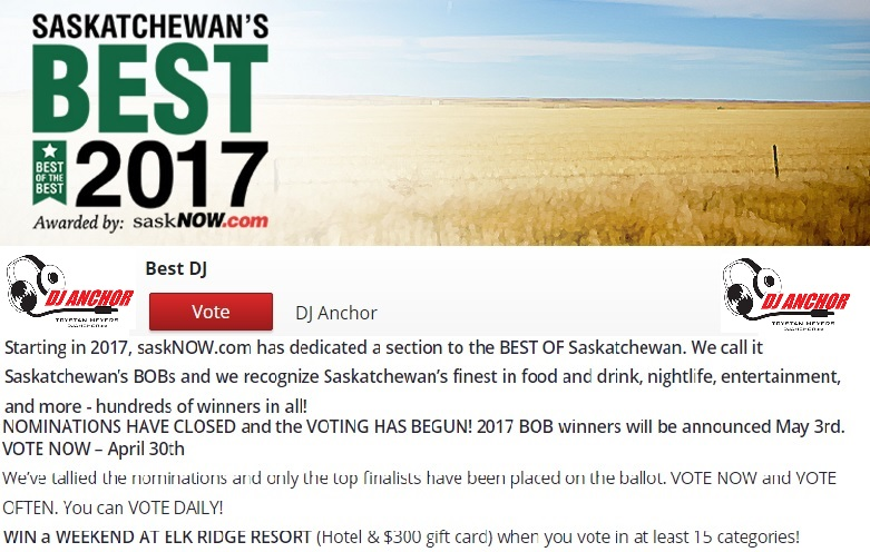 Dj Anchor Nominated As Saskatchewan's Best DJ - Image 1