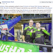 Dj Anchor Official Saskatchewan Rush DJ Signs A 3 Year DJ With The Team