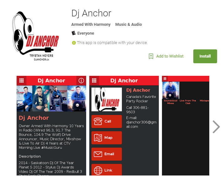 Saskatoon DJ - Dj Anchor App Now Avilable on Android & Google Play - Image 1