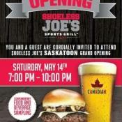 Shoeless Joe's Saskatoon Grand Opening Tonight w/ Dj Anchor of Armed With Harmony
