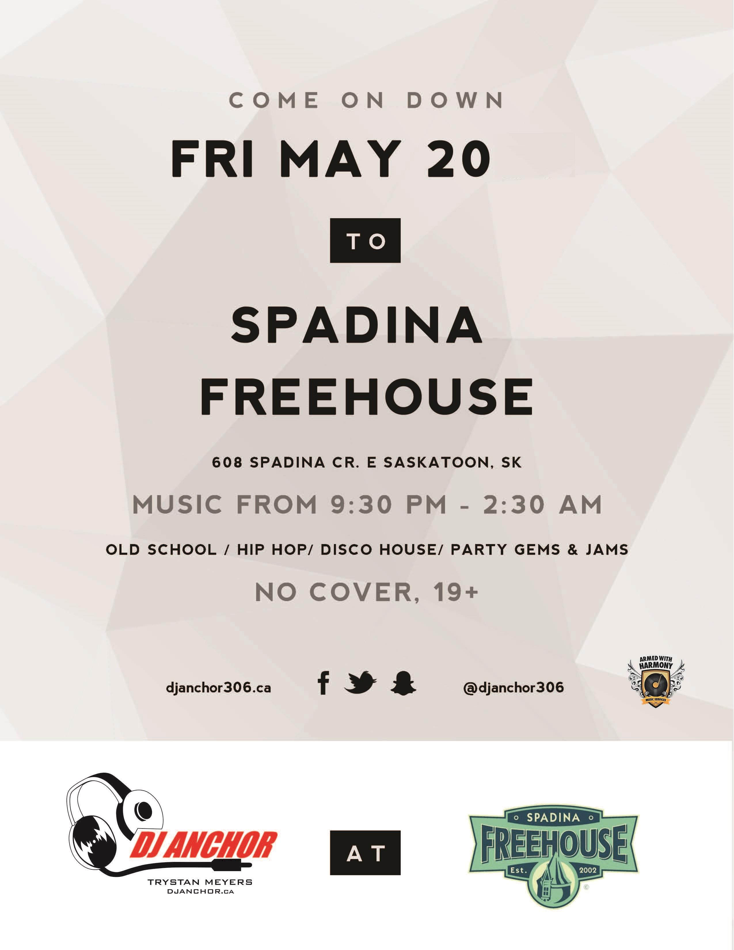 Spadina Freehouse Saskatoon Dj Anchor of Armed With Harmony - Image 1