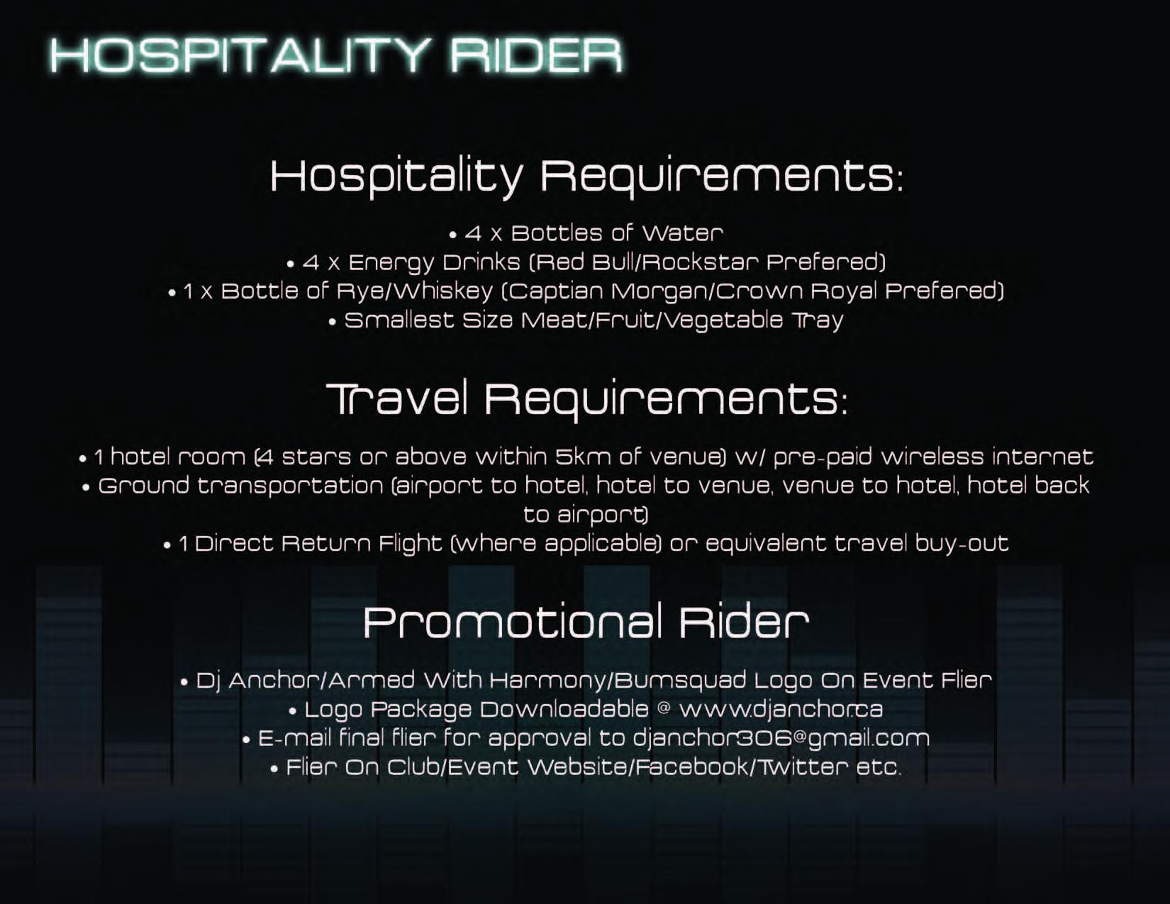 Hospitality Ryder