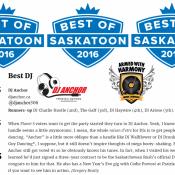 Dj Anchor Voted As Best Saskatoon DJ By Planet S Magazine