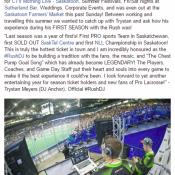 Saskatchewan Rush #RushDJ Dj Anchor Talks About The 2016-2016 Season In Saskatoon